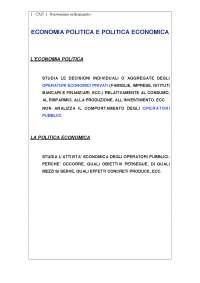 Riassunti Politica Economica e Strategia Aziendale; esercizi (libro riferimento: Acocella)