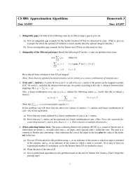 Integrality-Integrality of the Min-cut Polytope-Approximations Algorithms-Home Work 03-Computer Science