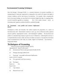 Strategic Management  -  Environmental Scanning Techniques -  Notes  -  Business Management