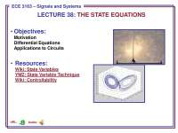 Signals and Systems-Lecture 38 Slides-Electrical and Computer Engineering