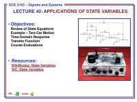 Signals and Systems-Lecture 40 Slides-Electrical and Computer Engineering