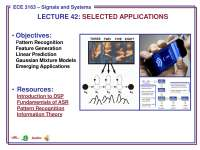 Applications-Signals and Systems-Lecture 42 Slides-Electrical and Computer Engineering