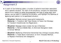 Situation-Patterns in Software Engineering-Assignment 8-Computer Engineering-Raman Ramsin