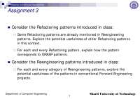 Refactoring Patterns-Patterns in Software Engineering-Assignment 7-Computer Engineering-Raman Ramsin