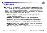 Situation-Patterns in Software Engineering-Assignment 9-Computer Engineering-Raman Ramsin