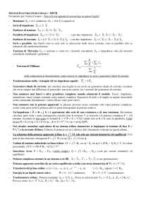 Formulario per esame di Sistemi Elettrici della IV Facoltà di Ingegneria Logistica e della Produzione