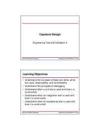 Test-Capstone Design-Lecture 08 Slides-Electrical and Computer Engineering