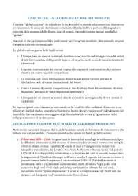 Riassunto esame Marketing Internazionale - prof. Bursi Vecchi - La Globalizzazione dei Mercati