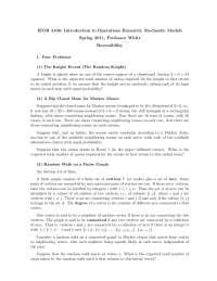 Markov Chains Reversibility - Essay - Mathematics