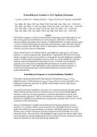 Konsolidasyon Yazılımı ve Veri Toplama Donanımı