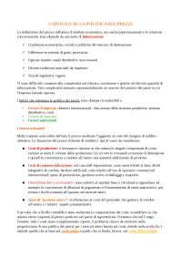 RIASSUNTO LIBRO DI MARKETING INTERNAZIONALE CAPITOLO 10