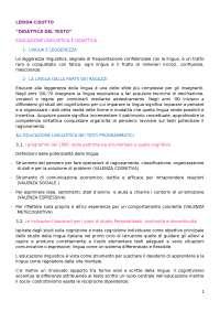 Dispensa di didattica del testo dal Cisotto