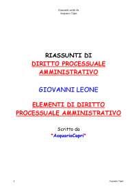 DIRITTO PROCESSUALE AMMINISTRATIVO (LEONE)[1] (2)