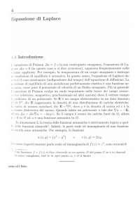 4. Equazione di Laplace