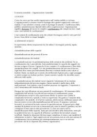 Economia aziendale – Organizzazione Aziendale