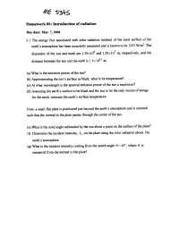 Homework blackbody radiation solution cheap business plan writer for hire au