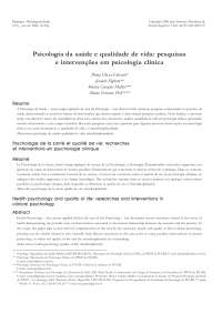 psicologia da saúde e qualidade de vida, Notas de estudo de Psicologia