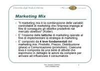 Marketing mix - Kotler - Le 4 leve fondamentali