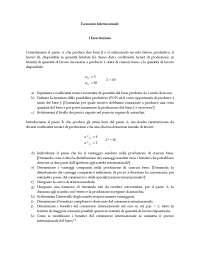 Economia Internazionale I-Esercitazione