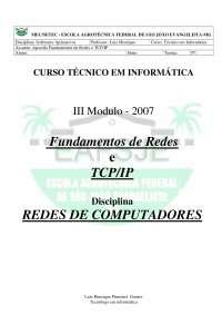 3288 Redes, Notas de estudo de Redes de Computadores
