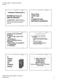 Oggetto del rapporto giuridico - I diritti reali