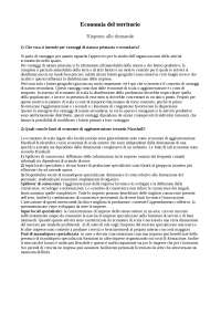 Dispensa - Economia del Territorio - Risposte al questionario sul sito di facoltà - Prof. Sergio Lodde