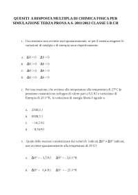 Chimica e Fisica - Quesiti a risposta multipla - Simulazione di terza prova dell'esame di maturità