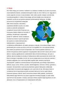 Ambiente ed Inquinamento - Traccia
