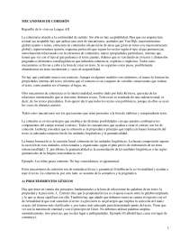 Mecanismos de Cohesión - Lengua Española II - Apuntes - UCM - 2010-11