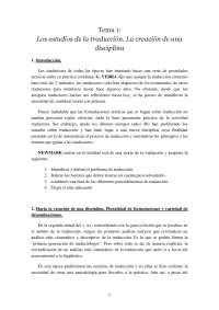 Fundamentos de Traducción - Apuntes - Universidad de Granada - 2008-9