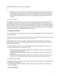 Lingüística Aplicada a la Traducción - Lingüística General - Apuntes