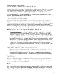 Lenguas Romance - Apuntes - Nacimiento, Historia, Características de las Lenguas Romance.