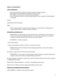 Conceptos Generales de Lingüística - Lingüística - Apuntes