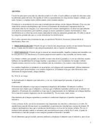 El Verbo como Elemento de Cohesión Textual - Lengua Española - Apuntes - UGR - 2009-10