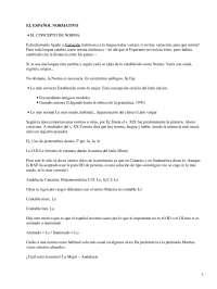 El Español Normativo - Gramática - Apuntes