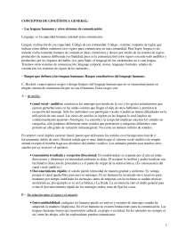 Conceptos de Lingüística General - Lingüística - Apuntes