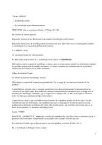 Morfología del Español - Apuntes - Clases de Palabras, Categorías, Funciones - Universidad Complutense de Madrid - 2003-4 - Parte 1.pd