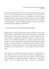 Introducción a la Historia de la Lengua Española - Apuntes - Temario Rafael Lapesa - UNED - 2007-8 - Parte 2