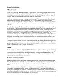 Ética para Amador, Fernando Savater - Literatura Contemporánea - Resumen.p