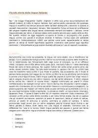 Riassunto - Linguistica - Piccola Storia della Lingua Italiana - De Blasi