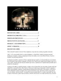La Niebla, Stephen King - Literatura del Siglo XX - Resumen
