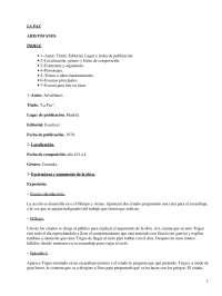 La Paz, Aristófanes - Literatura Clásica - Resumen