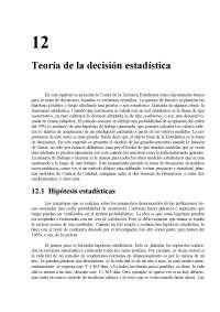 Teoría de la decisión estadística - Probabilidad y estadística - Apuntes - Capítulo12 - Parte1