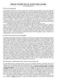 Appunti di Breve storia della scrittura latina