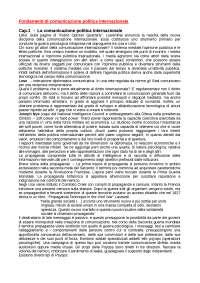 Fondamenti di comunicazione politica internazionale (1)