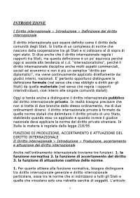 Riassunto corso di diritto internazionale. Libro consigliato Conforti