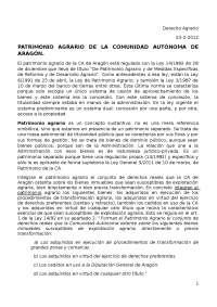 Apuntes Dº Agrario 2012