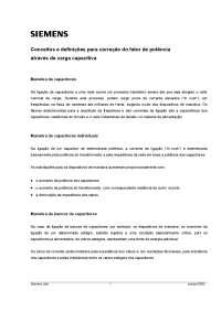 Cálculo Banco De Capacitores - Manual Siemens, Manuais, Projetos, Pesquisas de Cálculo