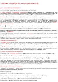 Riassunto Esame Informatica unibg - RIf: Informatica umanistica di Lazzari