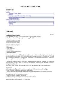 Gastroenterologia - Prof. Buri - Appunti
